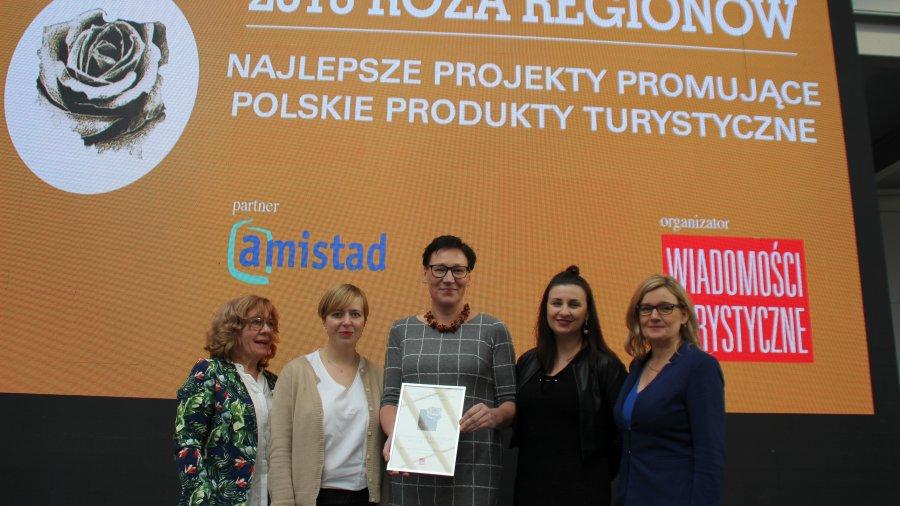 Kaszubski przewodnik z nagrodą Róża Regionów
